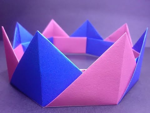 "How To Make A Paper Crown I DIY Color Paper Made I Easy Tutorial || ""Easy Craft"""