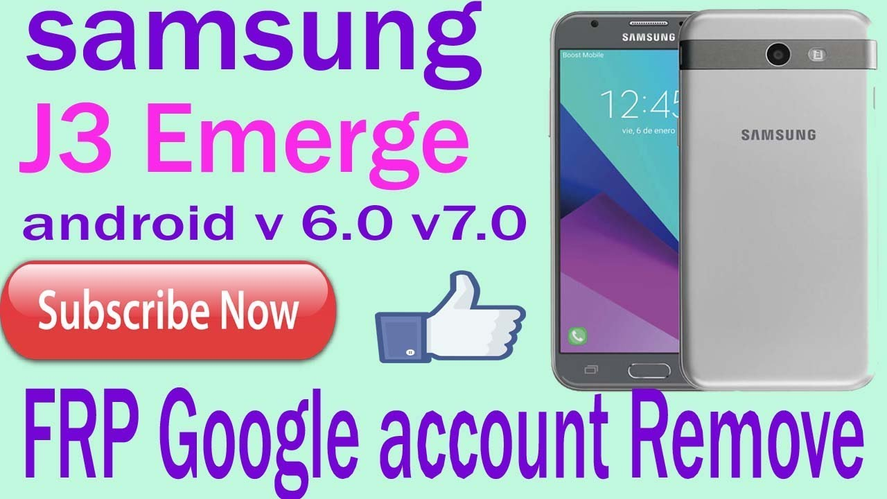 SAMSUNG J3 Emerge FRP ang google account Remove