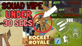 Rocket Royale JEFF SQUAD WIPES UNDER 10 SECONDS 10 KILLS - Android Gameplay #73 screenshot 4