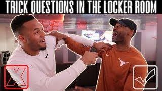 Asking My Teammates Simple Questions! | Texas Football Edition