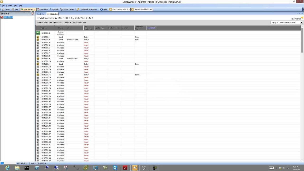 Solar Winds IP Address Tracker (Free Tool)