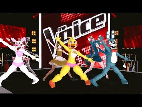 FNAF Dance «Bellydance & Gigantic» La Voz MMD   Halftime Show
