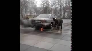 Смотреть всем ( съемки фильма) Горит машина...