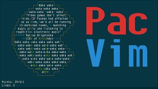pacvim teaches vim keys