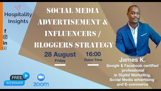 Social Media Advertisement & Influencer and Bloggers Strategy | James K