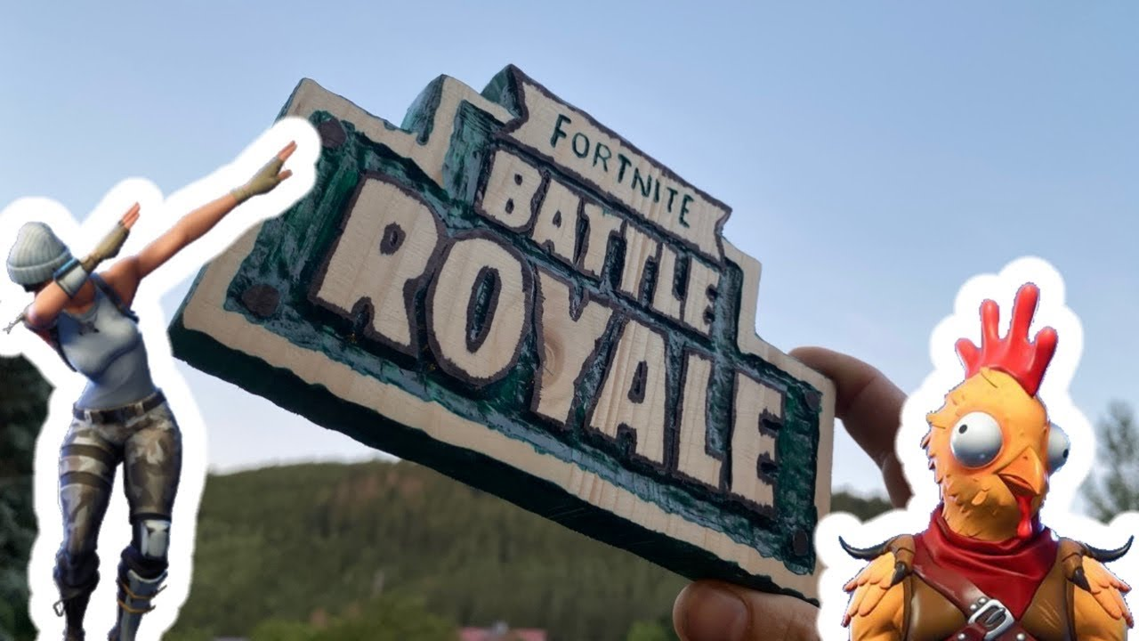 Fortnite wooden logo - Battle Royal unique