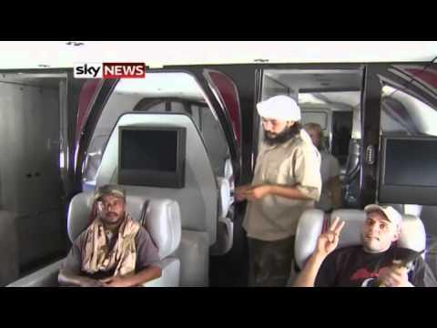 Libya Conflict: Inside Colonel Gaddafi's Private Jet