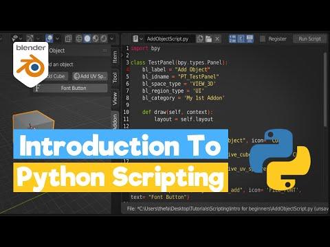 Blender Python Tutorial: An Introduction To Scripting [Python - Bpy]