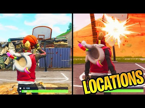 ''Score A 3 Point Shot On Different Basketball Courts'' ALL FORTNITE BASKETBALL COURT LOCATIONS!