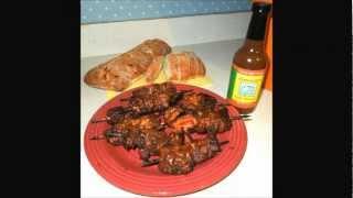 Jerk Chicken & Pork (skewer and grill)