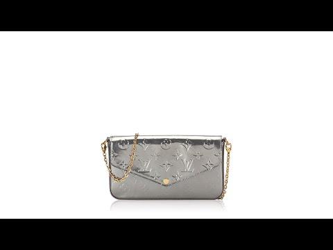 Louis Vuitton Monogram Vernis Pochette Felicie Gris Metal