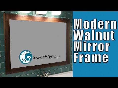 Walnut Mirror Frame // How-To (Ep. 80)