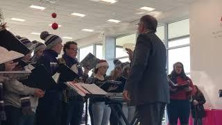 Holyoke High School Madrigal Chorus sings at Gary Rome Hyundai showroom