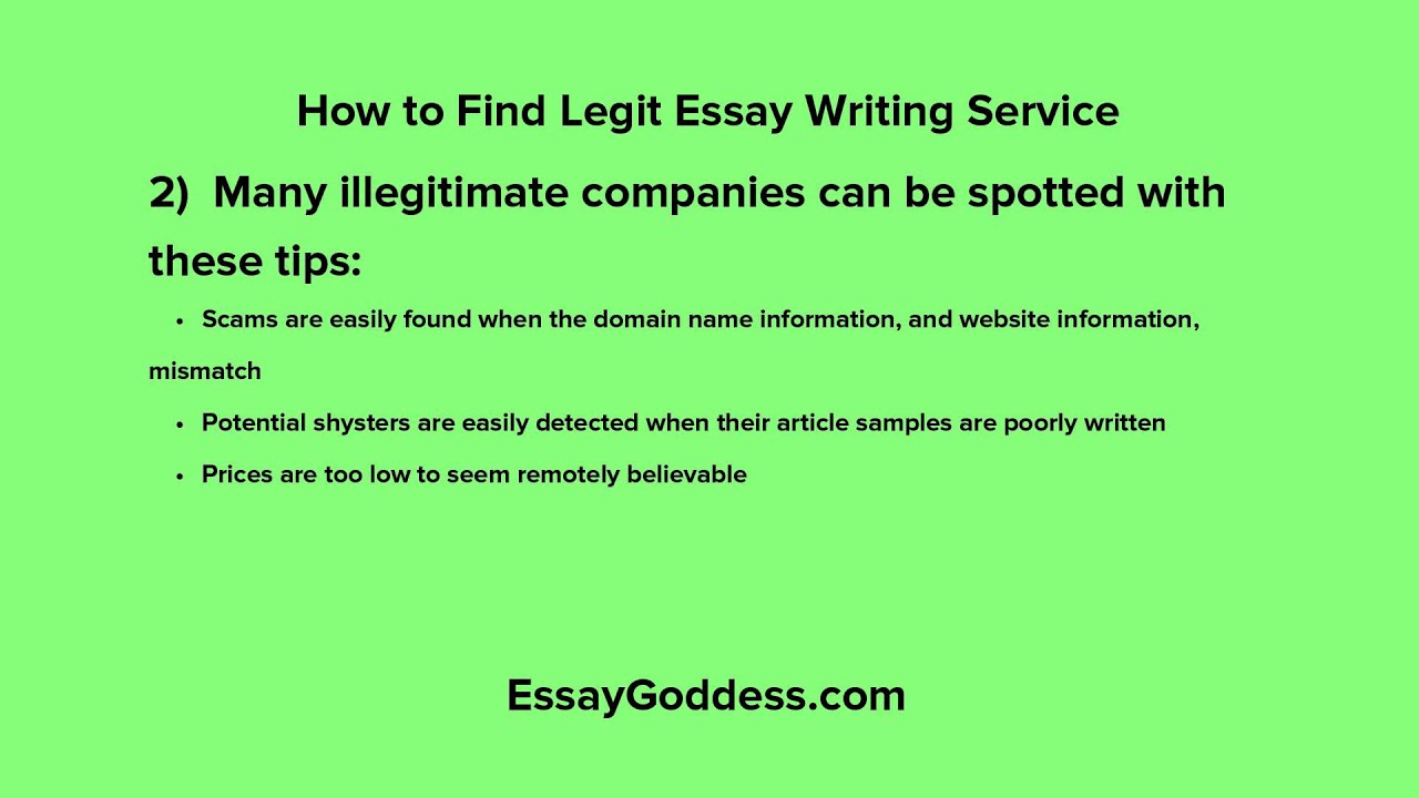 Are essay writing services legit