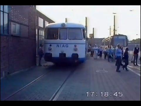 Führerstandsmitfahrt über Industriebahngleise in Duisburg 25.09.1992
