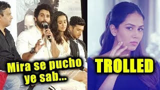 Shahid Kapoor Reaction On Mira Rajput TROLLED For OLAY Ad