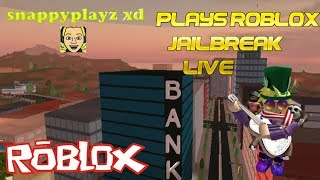 SnappyPlayzXD Soon Will be Playing the New ROBLOX JailBreak Update?!?! | 🔴 LIVE