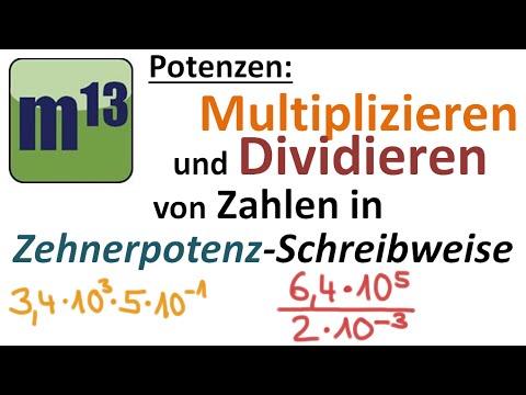 Multiplizieren und Dividieren von Zahlen in Zehnerpotenzschreibweise ...