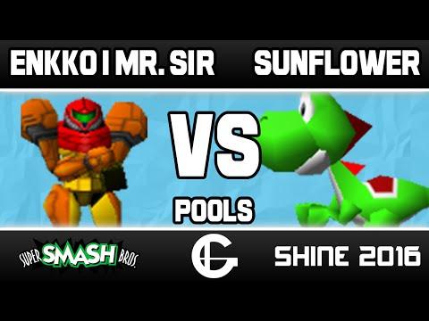 ENKKO | Mr. Sir (Samus) VS Sunflower (Yoshi) | Shine 2016 | 64 Pools