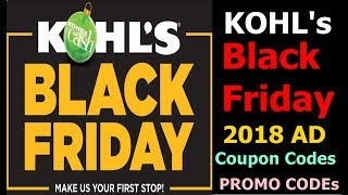 Kohl's black Friday 2018 AD. Kohls Black Friday Deals Discounts Promo Code