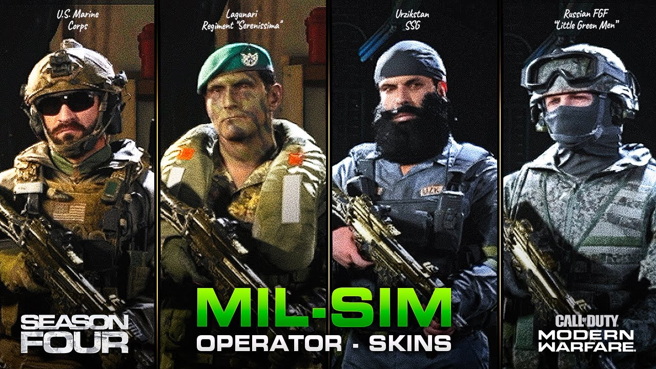 New Mil Sim Operator Skins Replace Default Coalition