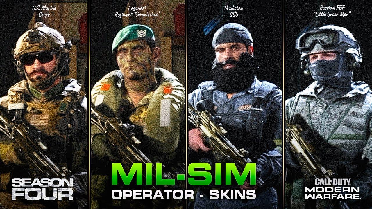 New Mil Sim Operator Skins Replace Default Coalition Allegiance Operators Modern Warfare Youtube