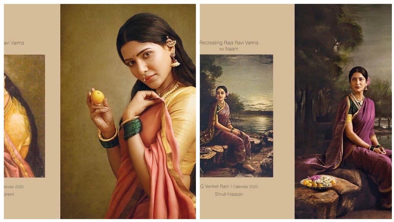 Recreation Of Ravivarma Paintings Calendar2020 Naam Youtube