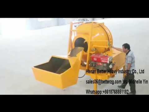 JZC350 diesel portable concrete mixer operation