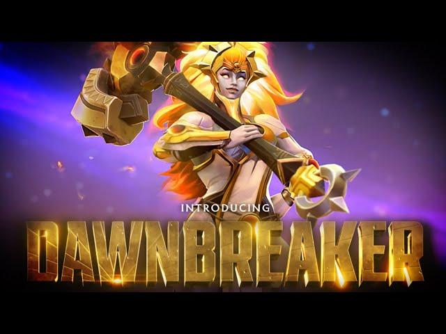 DAWNBREAKER NEW HERO PREVIEW DOTA 2