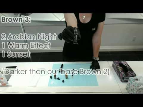 Mixing Phibrows Pigments   Phibrows Master Kler Rosenberg