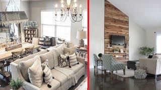40+ Beautiful Rustic Farmhouse Living Room Decor Ideas