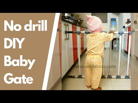 Baby Gate Fence Without Drilling On Wall Youtube