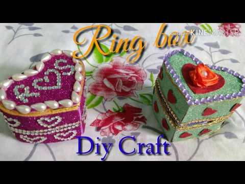 Diy Ring box/ valentine day ring box/Heart Box/Artzone