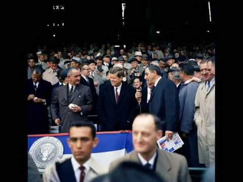 INTERVIEW WITH JFK AT OPENING GAME OF 1961 BASEBALL SEASON