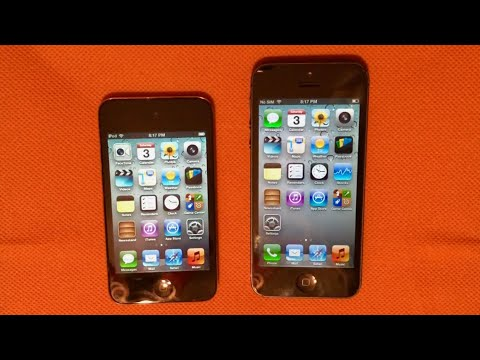 iPhone 5 vs. iPod touch 4th Generation Speed Test! (iOS 6) | TrevorMVlogz