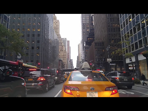 Driving from Garment District in Manhattan to Long Island City in Queens,New York