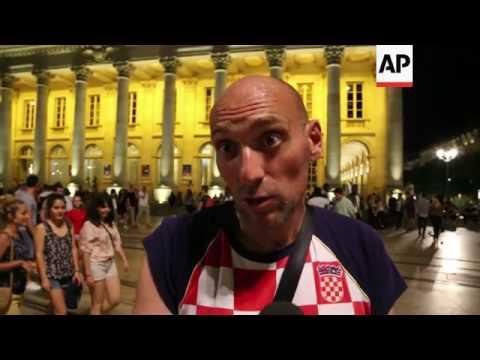 Croatia fans celebrate team
