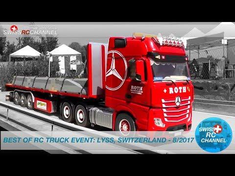 BEST OF RC TRUCK EVENT - LYSS, SWITZERLAND - 8/2017 - RC TRUCKS, EXCAVATOR,FIRE,WHEEL LOADER
