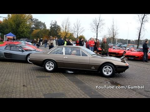 Ferrari 365 GT/4 2+2 V12 sound!! 1080p HD
