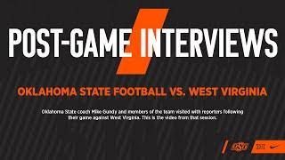 Oklahoma State Football Post-Game Interviews Vs. West Virginia 092620