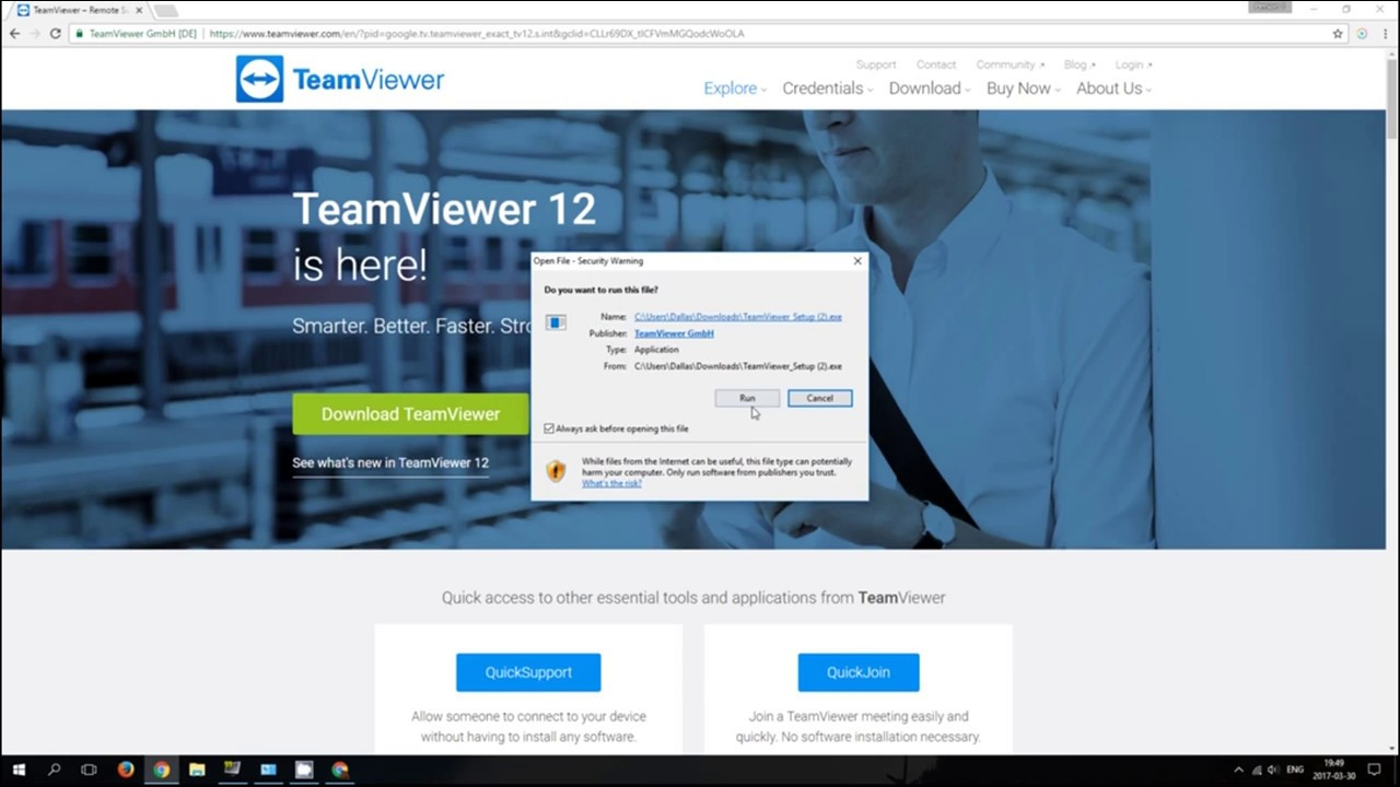 How to install teamviewer on windows 10 (Remote desktop)