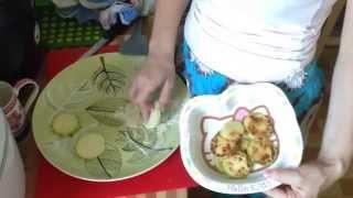 Как пожарить кабачки в мультиварке - нужно ли чистить кабачки при обжарке? Видео рецепт