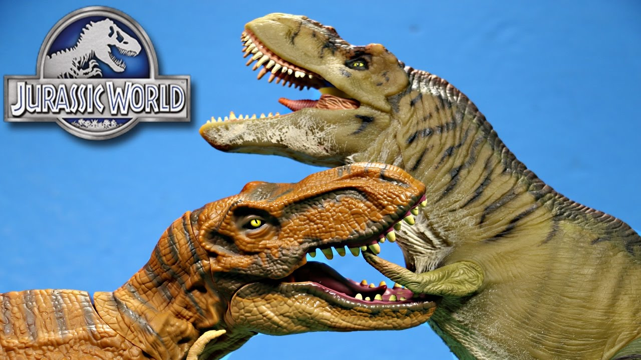 jurassic world stomp strike trex vs thrasher trex dino
