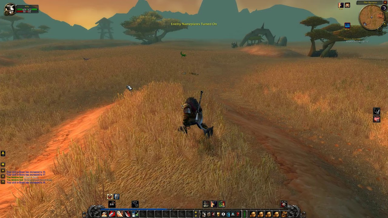 World Of Warcraft Classic Demo Raptors In The Barrens Youtube