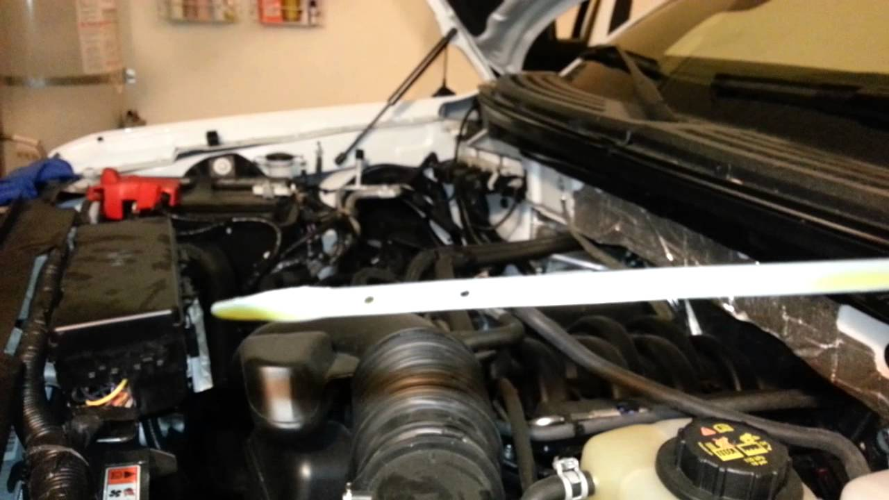 Ford Oil Change >> 2013 Ford F-150 - Coyote 5.0L V8 Engine - Checking Dipstick After Oil Change - YouTube