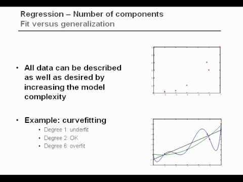 Partial Least Squares Regression 2 Validation (1/2)