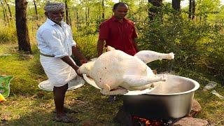 8 KG Full Turkey !!!  Yummy Turkey Gravy prepared by uncle   food fun village