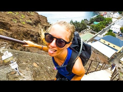 St. Helena Island! Scary dinghy landing and 699 steps! Saili