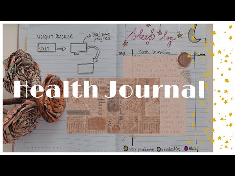 How to create your very own HEALTH JOURNAL! ☀