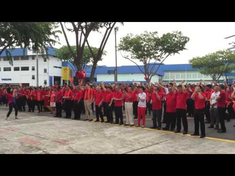Performance during ComfortDelGro National Day Observance Ceremony